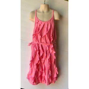 Pink Ruffled Summer Dress